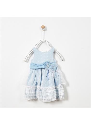Panço Abiye Elbise 19126254100 Mavi